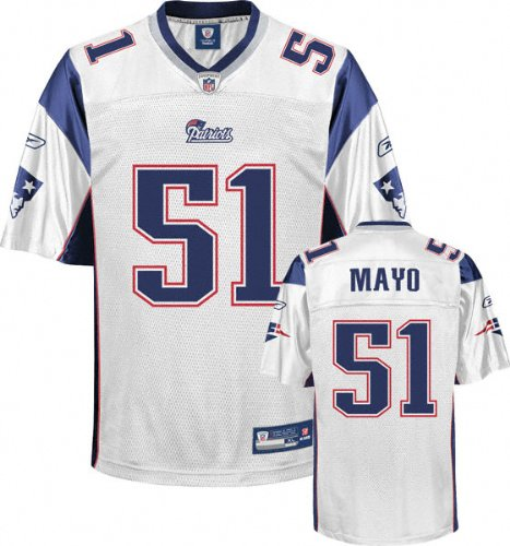63660fbca Reebok NFL Football Men s New England Patriots Jerod Mayo   51 Replica  Jersey