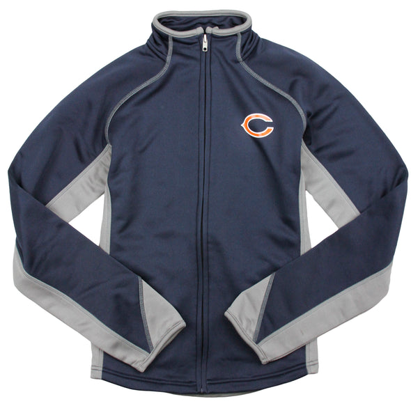 NFL Football Youth Girls Chicago Bears Full Zip Training Jacket, Navy