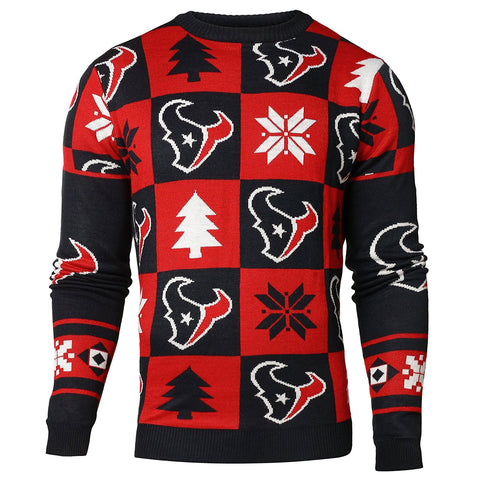 Forever Collectibles NFL Men's Houston Texans 2016 Patches Ugly Sweater