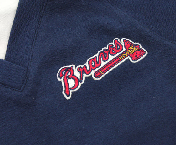 MLB Infant Atlanta Braves Turtleneck Coverall, Navy-White