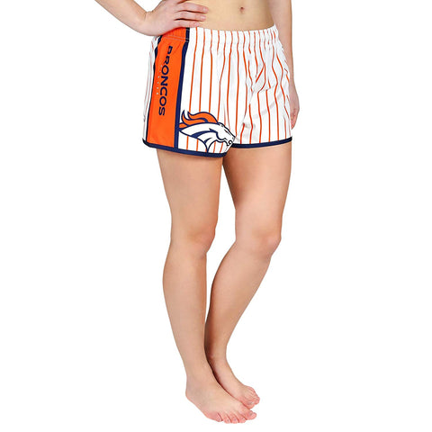 Forever Collectibles NFL Women's Denver Broncos Pinstripe Shorts