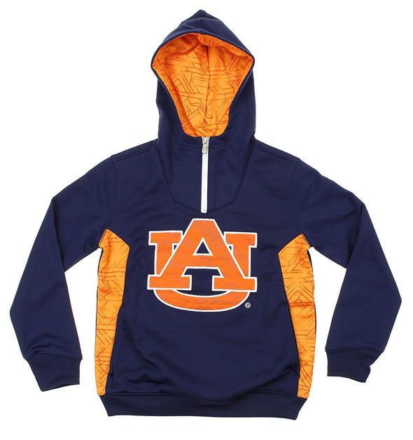 NCAA Youth Aubrun Tigers Quarter Zip Pullover Hoodie