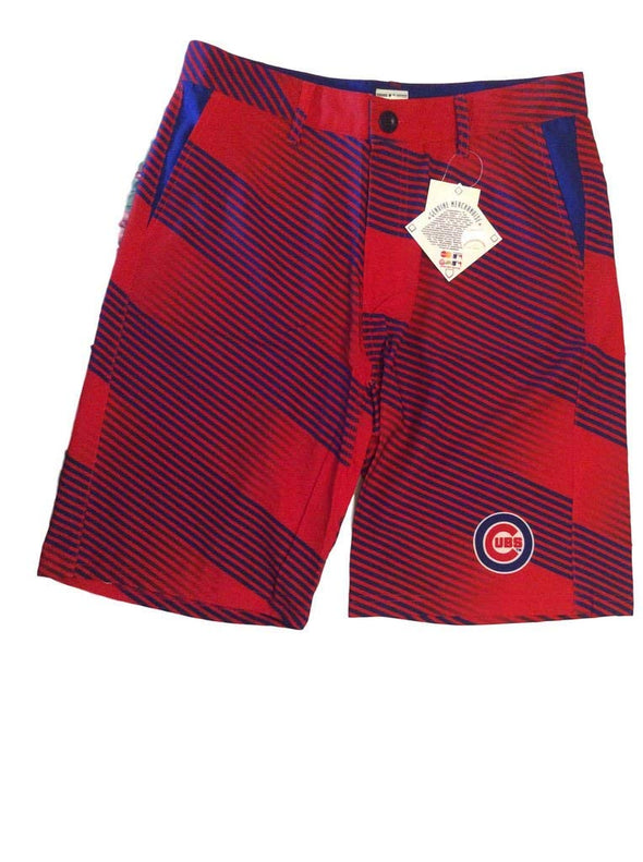 Forever Collectibles MLB Men's Chicago Cubs Diagonal Stripe Walking Shorts