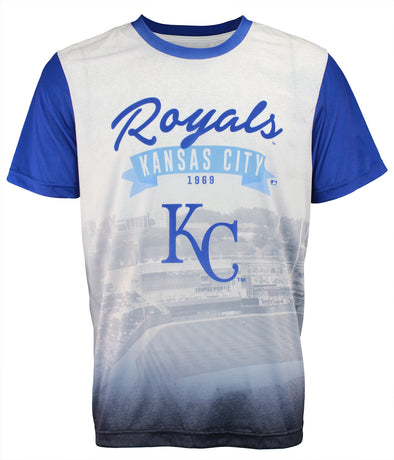Forever Collectibles MLB Men's Kansas City Royals Outfield Photo Tee