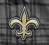 NFL Football Juniors Women's New Orleans Saints Plaid Stretch Leggings, Grey
