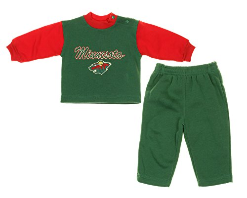 Minnesota Wild NHL Hockey Baby Infant Sweatshirt & Sweatpants Set - Green / Red