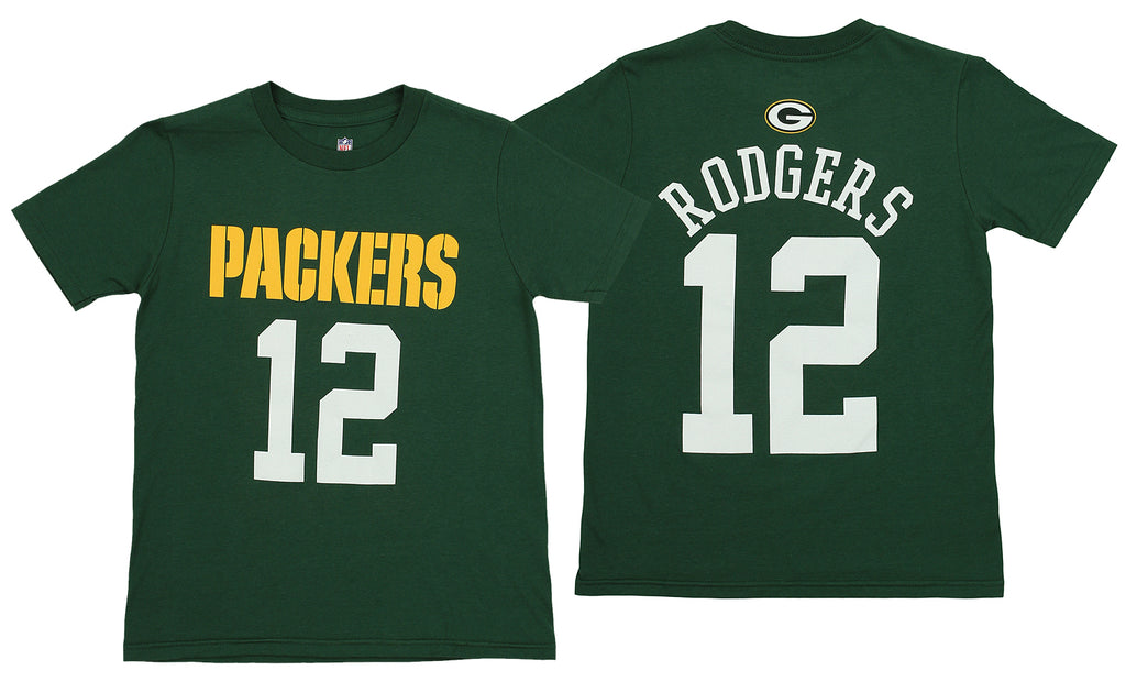 NFL Youth Green Bay Packers Aaron Rodgers  12 Mainliner Tee 770e3820b
