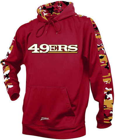 Zubaz NFL Men's San Francisco 49ers Pullover Hoodie with Camo Print