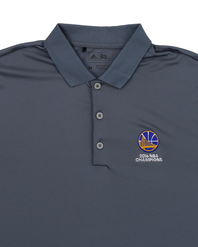 Gray Polo Nba Performance State Warriors Golden Adidas Men's R4OwHvqWF
