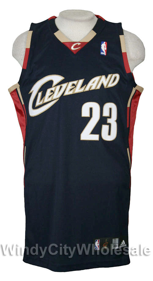 a4bfc7414 Adidas NBA Basketball Mens Cleveland Cavaliers LEBRON JAMES Authentic Jersey,  Navy