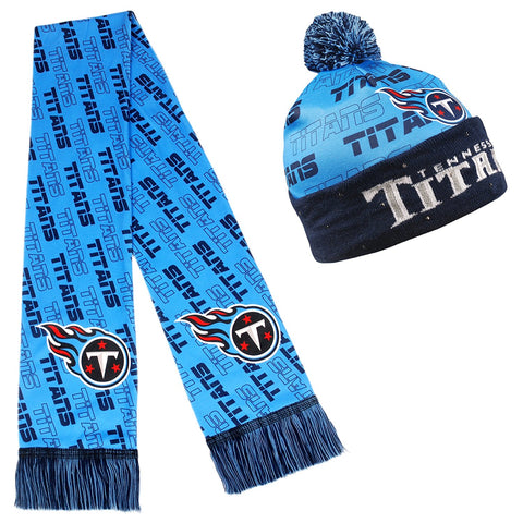 Forever Collectibles NFL Adult's Tennessee Titans Light Up Beanie And Scarf Set