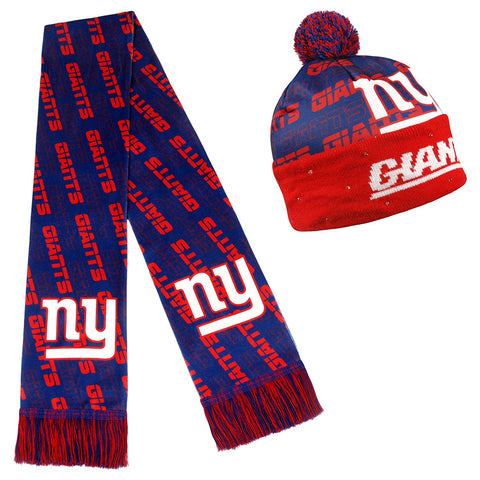 Forever Collectibles NFL Adult's New York Giants Light Up Beanie And Scarf Set