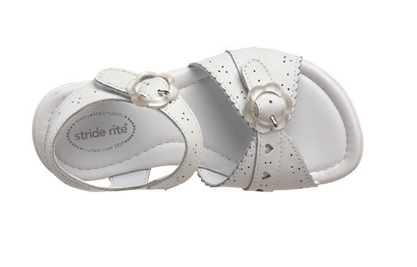 Stride Rite Toddlers Butterscotch Sandal, White
