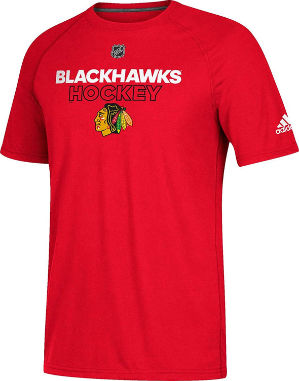 Adidas Men's Chicago Blackhawks Ice Ultimate Performance T-Shirt, Red