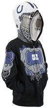 NFL Football Youth Boys Indianapolis Colts Full Zip Masked Sweatshirt Hoodie, Black
