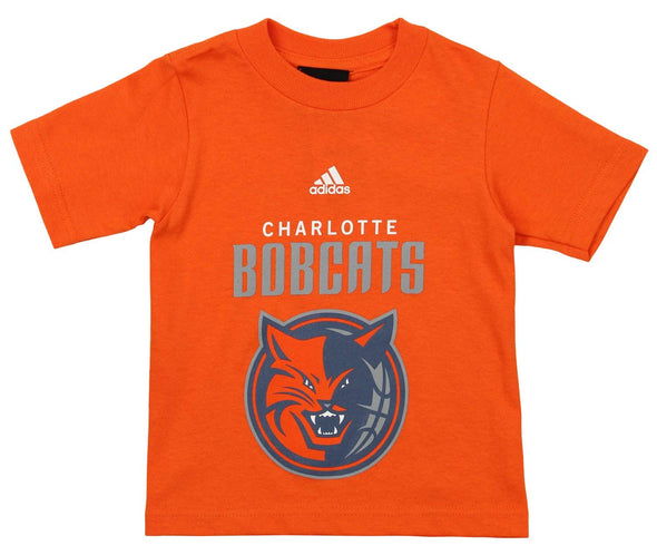 Adidas NBA Toddlers Charlotte Bobcats Short Sleeve Primary Logo Tee, Orange