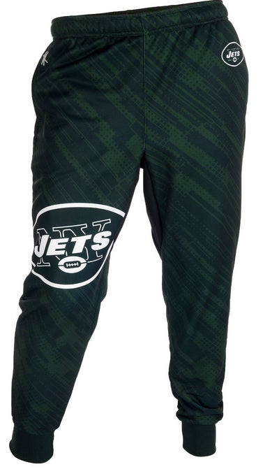 KLEW NFL Men's New York Jets Cuffed Jogger Pants, Green