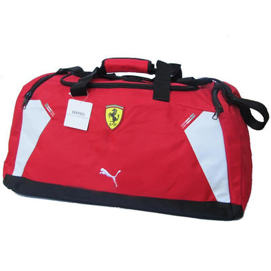 """Puma Ferrari Medium Team Bag Duffle Bag, Rossa Corsa, Red"""
