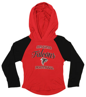 Atlanta Falcons OuterStuff NFL Youth Girls Team Logo Polka Dot Print Crew
