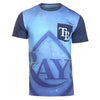 KLEW MLB Men's Tampa Bay Rays Big Graphics Pocket Logo Tee T-shirt, Blue