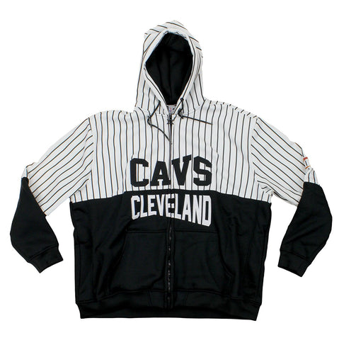 Zipway NBA Men's Cleveland Cavaliers Pinstripe Zip Up Hoodie