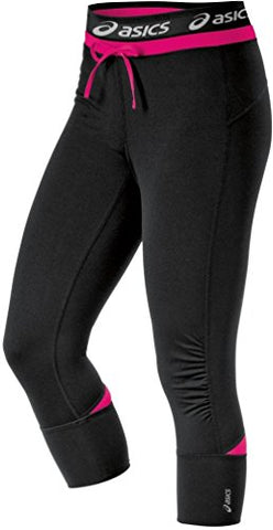 Asics Women's Abby Cuff Workout Running Gym Lounge Capris, 3 Colors