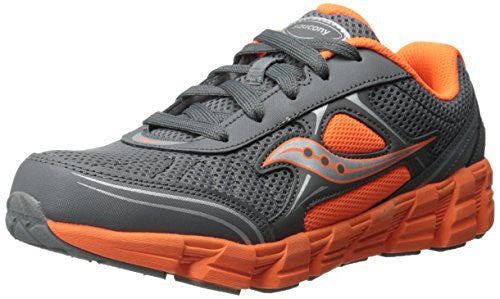 Saucony Kids Kotaro 2 Sneaker,Grey/Orange