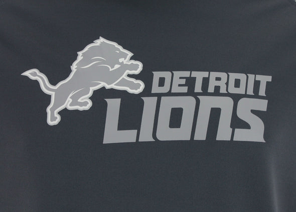 Zubaz NFL Men's Detroit Lions Gray Post Light Weight Hoodie