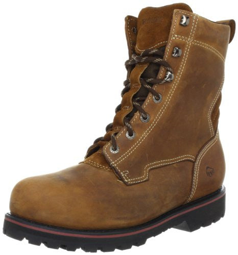 Wolverine Men's Malone 8 Waterproof Steel Toe Work Boots, Brown
