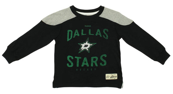 Reebok NHL Kids Dallas Stars Birthright Long Sleeve Crew T-Shirt, Grey
