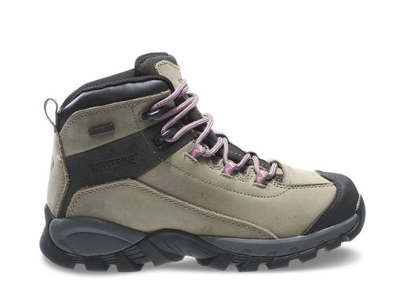 Wolverine Women's Blackledge Lx Waterproof Mid Ankle Hiker,Wild Dove/Pink