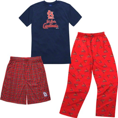 St. Louis Cardinals Youth Adidas T-Shirt Boxer & Pant 3 Piece Sleep Set [Misc.]