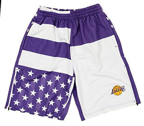 Zipway NBA Men's Los Angeles Lakers Flag Athletic Shorts