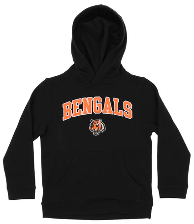 OuterStuff NFL Youth Boys Team Color Fleece Hoodie, Cincinnati Bengals