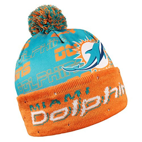 7d8f06da2a2 Forever Collectibles NFL Adult s Miami Dolphins Light Up Printed Beanie