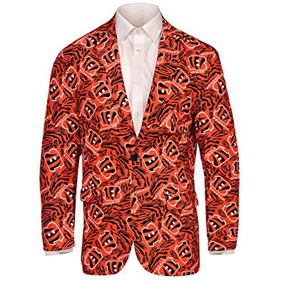 Forever Collectables NFL Men's Cincinatti Bengals Ugly Business Jacket, Orange