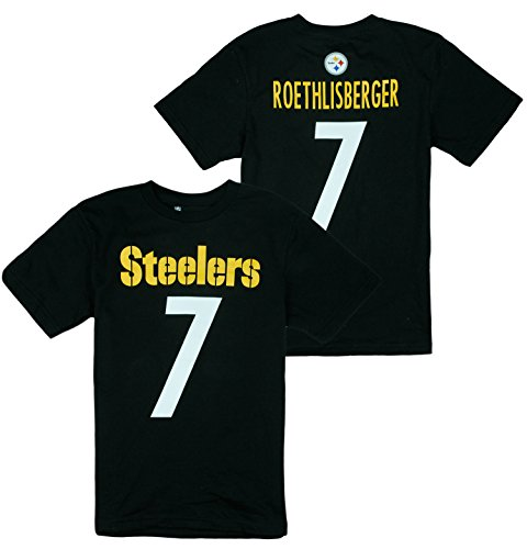 NFL Youth Boys Pittsburgh Steelers Ben Roethlisberger # 7 Player Shirt - Black