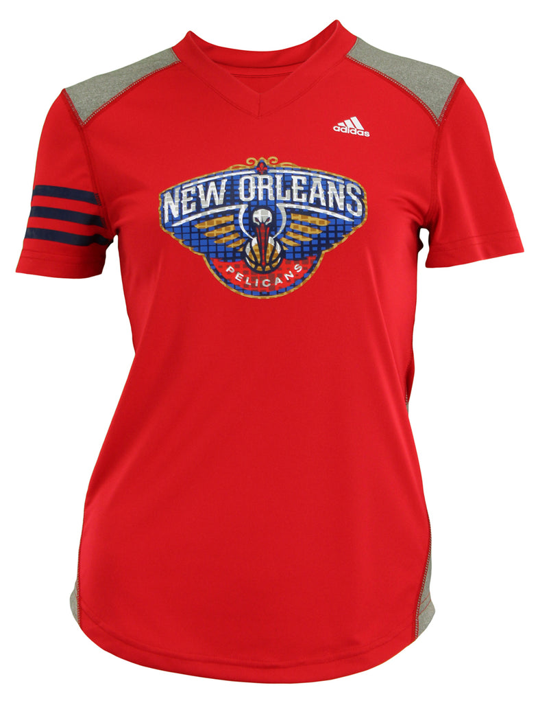 Adidas NBA Youth Girls New Orleans Pelicans Four Point Slouch Hoodie, Gray