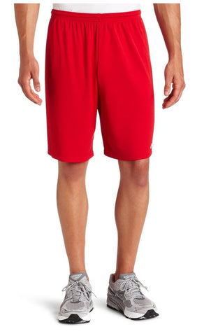 Asics Men's Team 8 Knit Athletic Fitness Gym Shorts - Blue & Red
