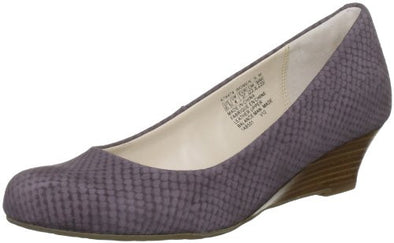 Rockport Women's Alika Pump Low Wedges Heels, Sparrow Violet