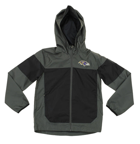 NFL Youth Baltimore Ravens Light Weight All Elements Jacket , Grey