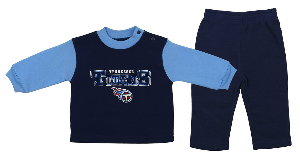 Hot Mighty Mac NFL Toddler Tennessee Titans Sweater & Pants Fleece Jog  free shipping