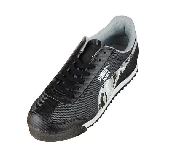 Puma Roma Denim Camo Kids Sneaker Shoes - Black & Gray