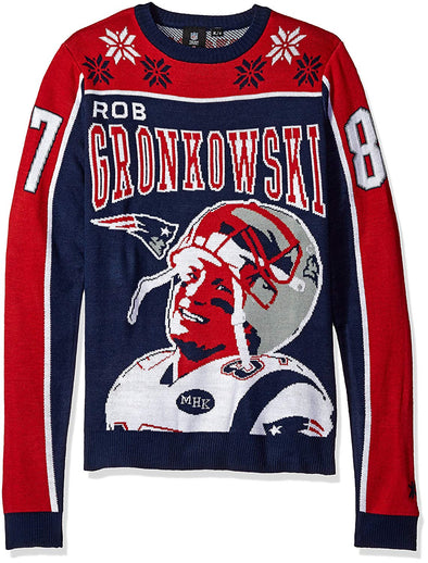 KLEW NFL Men's New England Patriots Rob Gronkowski #87 Ugly Sweater