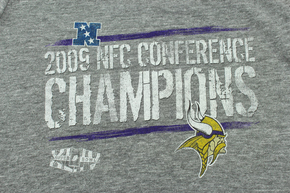 NFL Women's Minnesota Vikings 2009 NFC Conference Champions Tee, Grey