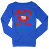 NFL Football Youth Girls New York Giants Long Sleeve Standard Shirt - Blue