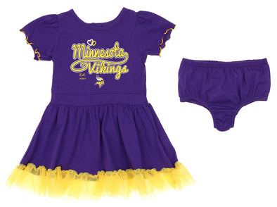 Outerstuff NFL Infant / Toddler Girls Minnesota Vikings Love Dress Two Piece Set