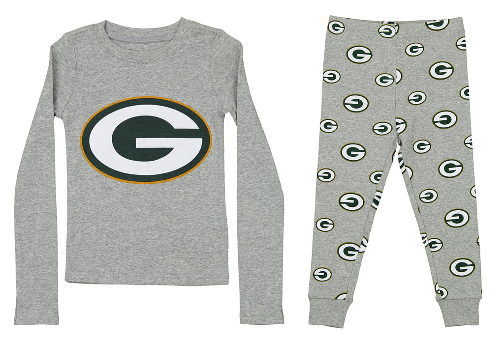 OuterStuff NFL Boy s Youth Green Bay Packers Long Sleeve Tee And Pant Sleep  Set 00bdab091