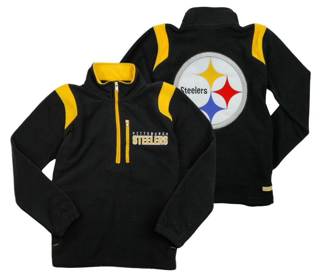 separation shoes e786b da77a NFL Youth Pittsburgh Steelers 1/4 Zip Micro Fleece Jacket - Black
