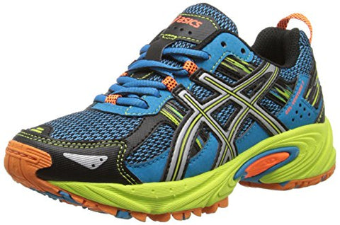 ASICS Youth Gel Venture 5 GS Trail Athletic Lace Up Running Shoes, Blue